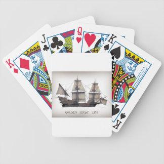 Baralhos Para Poker Navio de Hinde do ouro 1578