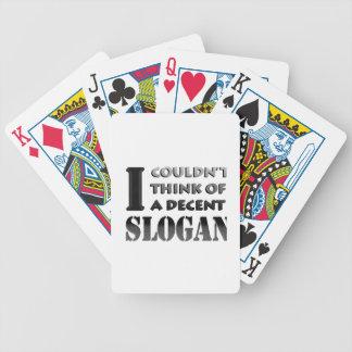 Baralhos Para Poker Nenhum slogan. aceitável
