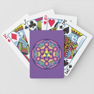 Baralhos Para Poker O cubo Merkaba de Metatron na flor da vida