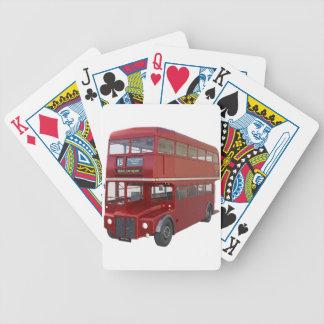 Baralhos Para Poker Ônibus vermelho do autocarro de dois andares no