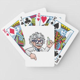 Baralhos Para Poker Personagem de desenho animado do cientista que