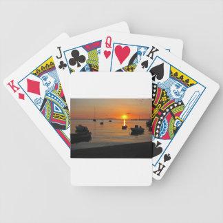 Baralhos Para Poker Pôr do sol ao porto de Novalja n iKroatien
