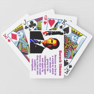 Baralhos Para Poker Porque nós vivemos em um mundo - Barack Obama