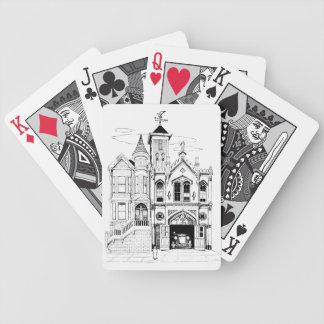 Baralhos Para Poker Preto e branco de luxe do quartel dos bombeiros do