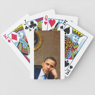 Baralhos Para Poker Retrato abstrato do presidente Barack Obama 11