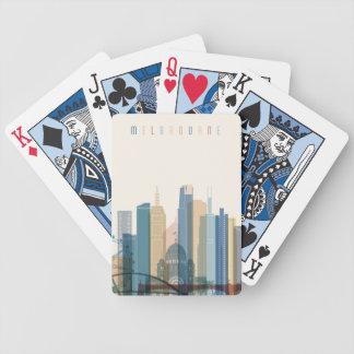 Baralhos Para Poker Skyline da cidade de Melbourne, Austrália |