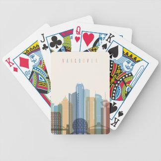 Baralhos Para Poker Skyline da cidade de Vancôver, Canadá |