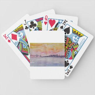 Baralhos Para Poker Skyline San Francisco da área da baía com ponte de