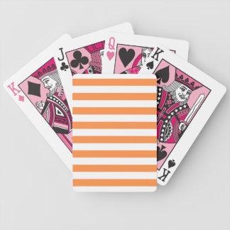 Baralhos Para Poker Teste padrão alaranjado e branco da listra
