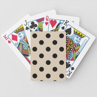Baralhos Para Poker Teste padrão de bolinhas preto - Tan