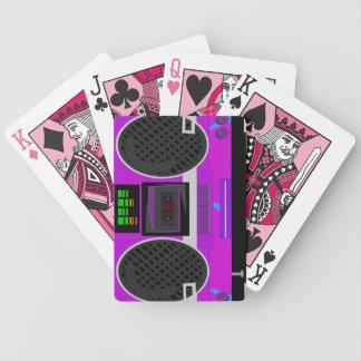 Baralhos Para Poker Totalmente ilustração roxa de Boombox dos anos 80