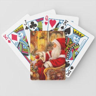 Baralhos Para Poker Trenó do papai noel - ilustração de Papai Noel