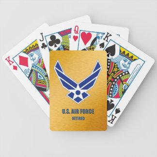 Baralhos Para Poker U.S. Cartões de jogo aposentados força aérea da