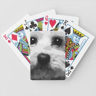 Baralhos Para Poker Um maltês preto e branco