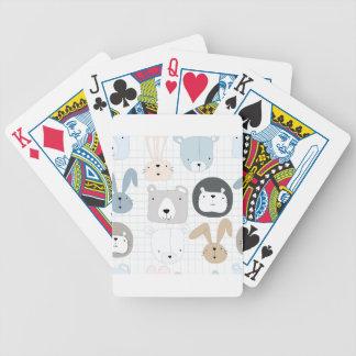 Baralhos Para Poker Urso, leão e coelho de ursinho animal bonito dos