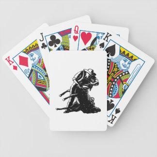 Baralhos Para Poker Woodcut de corte dos carneiros do tosquiador