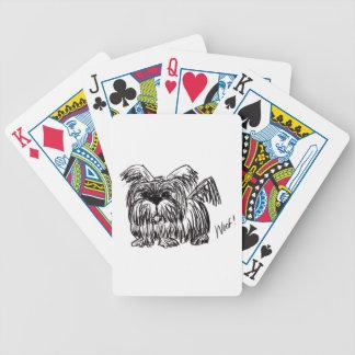 Baralhos Para Poker Woof um cão do espanador de poeira