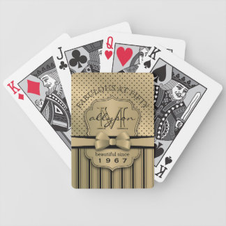 Baralhos Para Pôquer 50th Arco das listras das bolinhas do ouro de