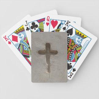 Baralhos Para Pôquer A cruz cristã primitiva personaliza a bíblia