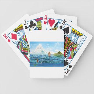 Baralhos Para Pôquer A pintura pequena do seascape da sereia