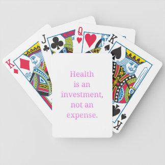 Baralhos Para Pôquer A saúde é um investimento…