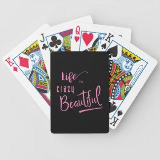 Baralhos Para Pôquer A vida é texto bonito louco das citações