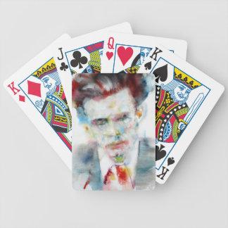 Baralhos Para Pôquer ALDOUS HUXLEY - retrato .4 da aguarela