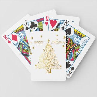 Baralhos Para Pôquer Árvore de Natal metálica estrelado bonita do ouro