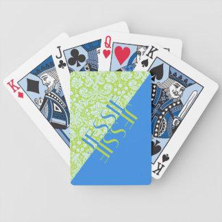 Baralhos Para Pôquer Azul na moda do verde limão da forma do recurso do