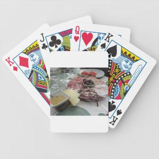 Baralhos Para Pôquer Bandeja de cortes frios com o prosciutto rústico