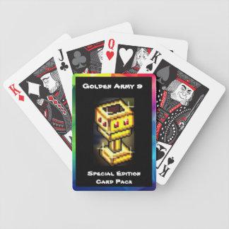 Baralhos Para Pôquer Bloco dourado do cartão da edição especial do