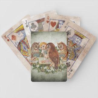 Baralhos Para Pôquer Cartões afligidos do póquer da coruja