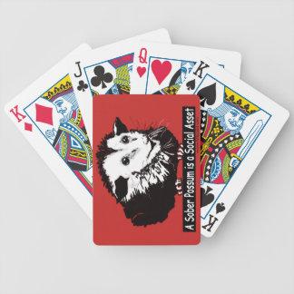Baralhos Para Pôquer Cartões de jogo com imagem conciso do gambá