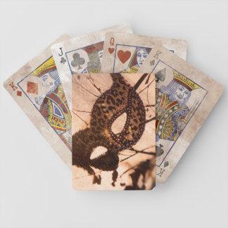 Baralhos Para Pôquer cartões de jogo de bronze do maschera do impressão