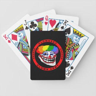 Baralhos Para Pôquer Cartões de jogo do exército do palhaço de