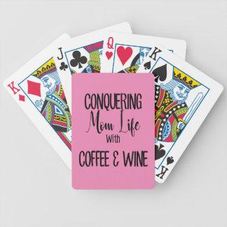 Baralhos Para Pôquer Conquistando MomLife no café & no vinho