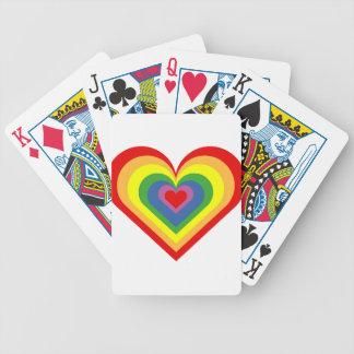 Baralhos Para Pôquer Coração do arco-íris