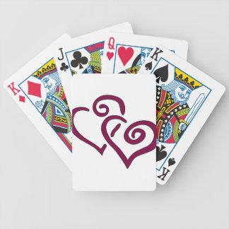 Baralhos Para Pôquer Coração dobro marrom