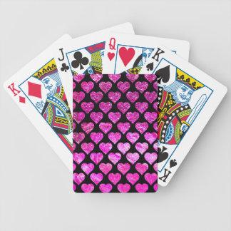 Baralhos Para Pôquer Corações cor-de-rosa da folha