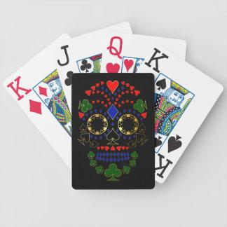 Baralhos Para Pôquer Dia do ouro dos cartões inoperantes do crânio do