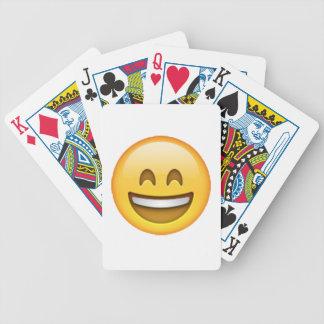 Baralhos Para Pôquer Emoji - olhos fechados do sorriso