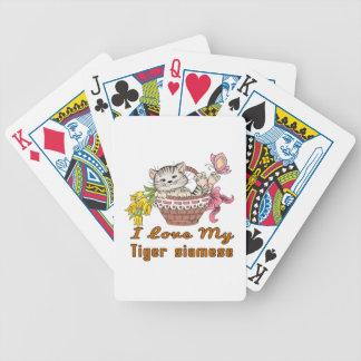 Baralhos Para Pôquer Eu amo meu tigre siamese