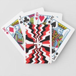 Baralhos Para Pôquer Explosão vermelha, preta, & branca do ziguezague