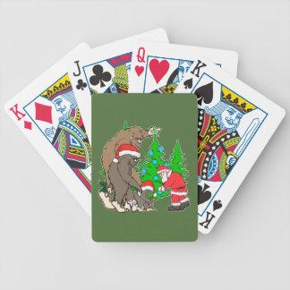 Baralhos Para Pôquer Família e papai noel de Bigfoot