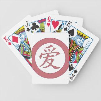 Baralhos Para Pôquer Japonês - 爱 chinês do amor