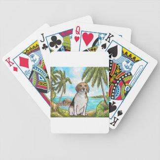 Baralhos Para Pôquer Lebreiro na praia tropical das férias