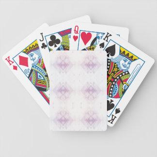 Baralhos Para Pôquer Luz - teste padrão geométrico cor-de-rosa