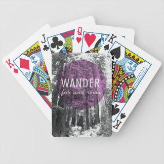 Baralhos Para Pôquer Nas madeiras | vagueiam citações distantes e