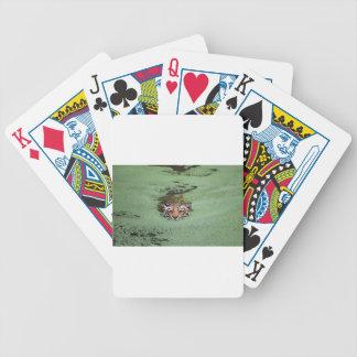 Baralhos Para Pôquer Natação do tigre de Bengal