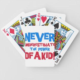 Baralhos Para Pôquer Nunca subestime o poder de um miúdo